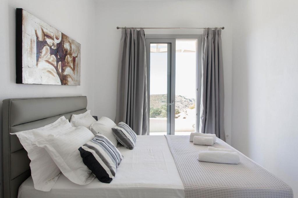 Letto o letti in una camera di Villa Thea