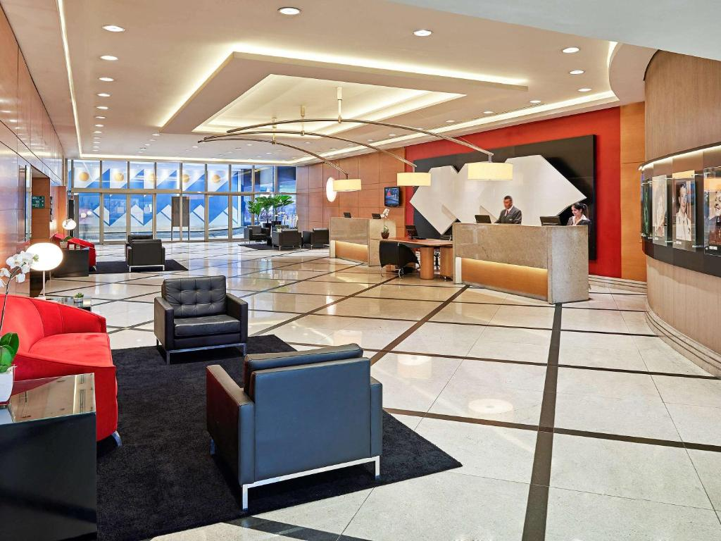 The lobby or reception area at Novotel Sao Paulo Jaragua Conventions