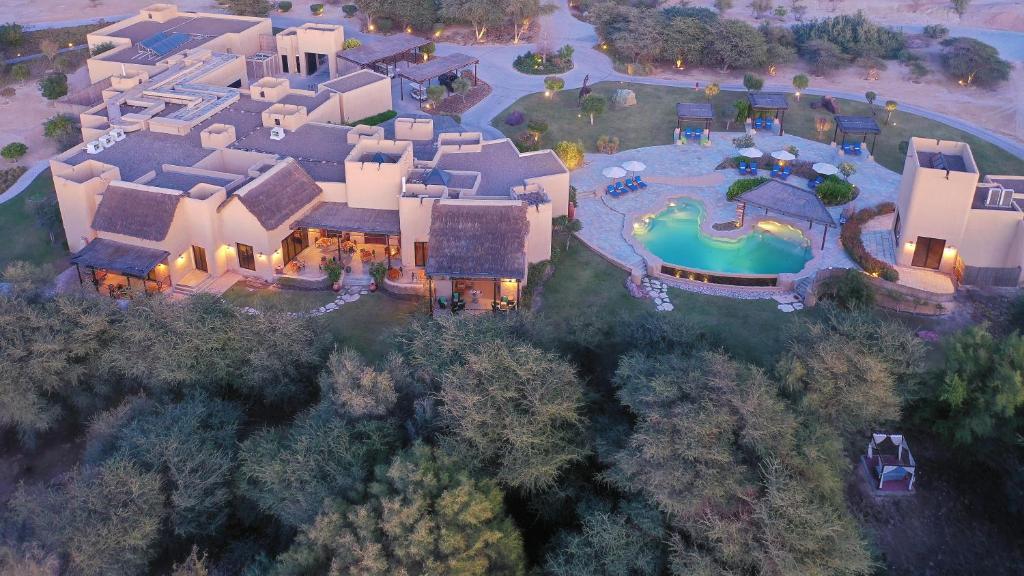 A bird's-eye view of Anantara Sir Bani Yas Island Al Sahel Villas