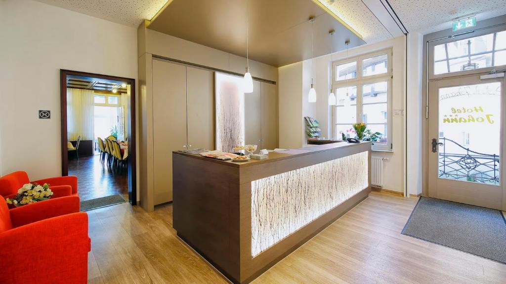 The lobby or reception area at Hotel Johann