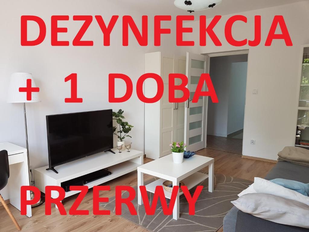 Telewizja i/lub zestaw kina domowego w obiekcie Apartament Glinki