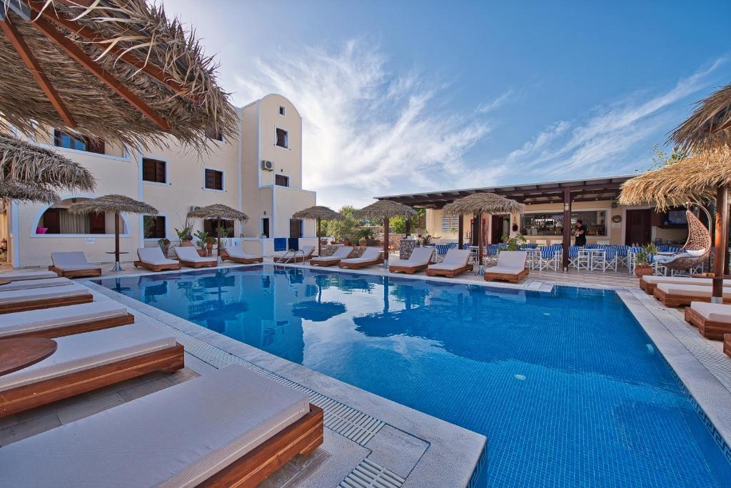 The swimming pool at or near Villa Angira