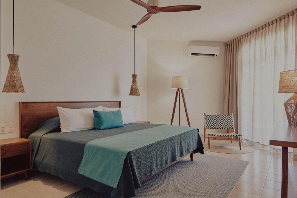 Cama o camas de una habitación en Casa Altamar