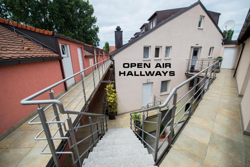 A balcony or terrace at Integralni Hotel & Hostel Zagreb