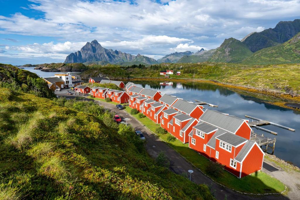 Nyvågar Rorbuhotell - by Classic Norway Hotels sett ovenfra