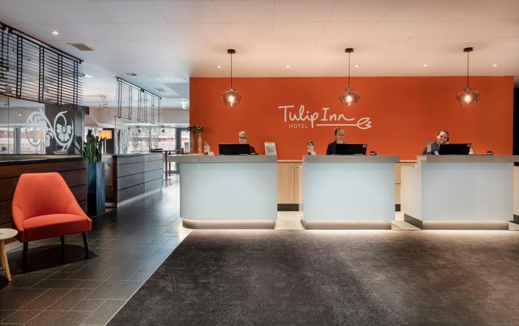 The lobby or reception area at Tulip Inn Hotel Düsseldorf Arena