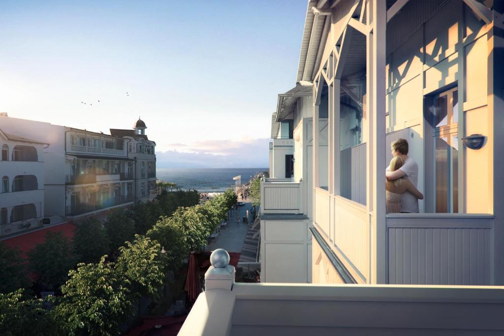 A balcony or terrace at Loev Hotel Rügen
