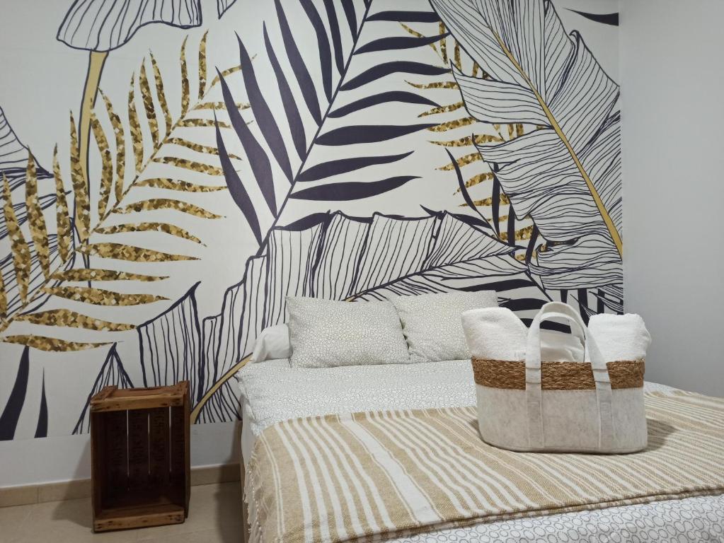 Cama o camas de una habitación en La Casa Morada