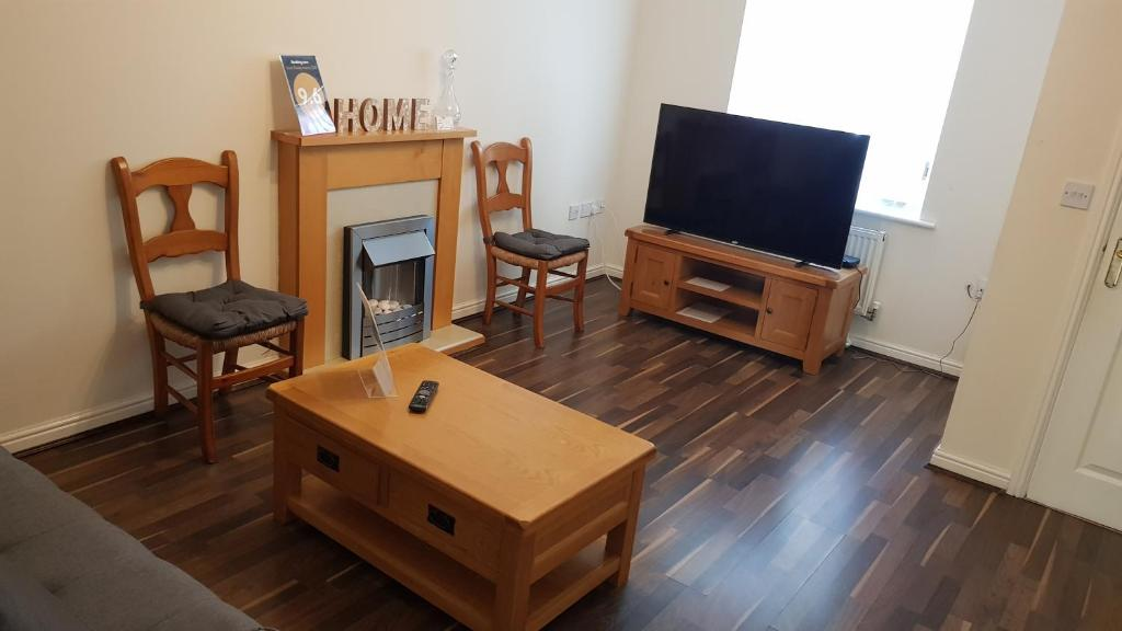 A television and/or entertainment center at Harrison House
