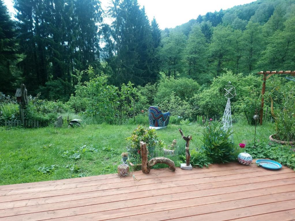 A garden outside Haus 3 Birken