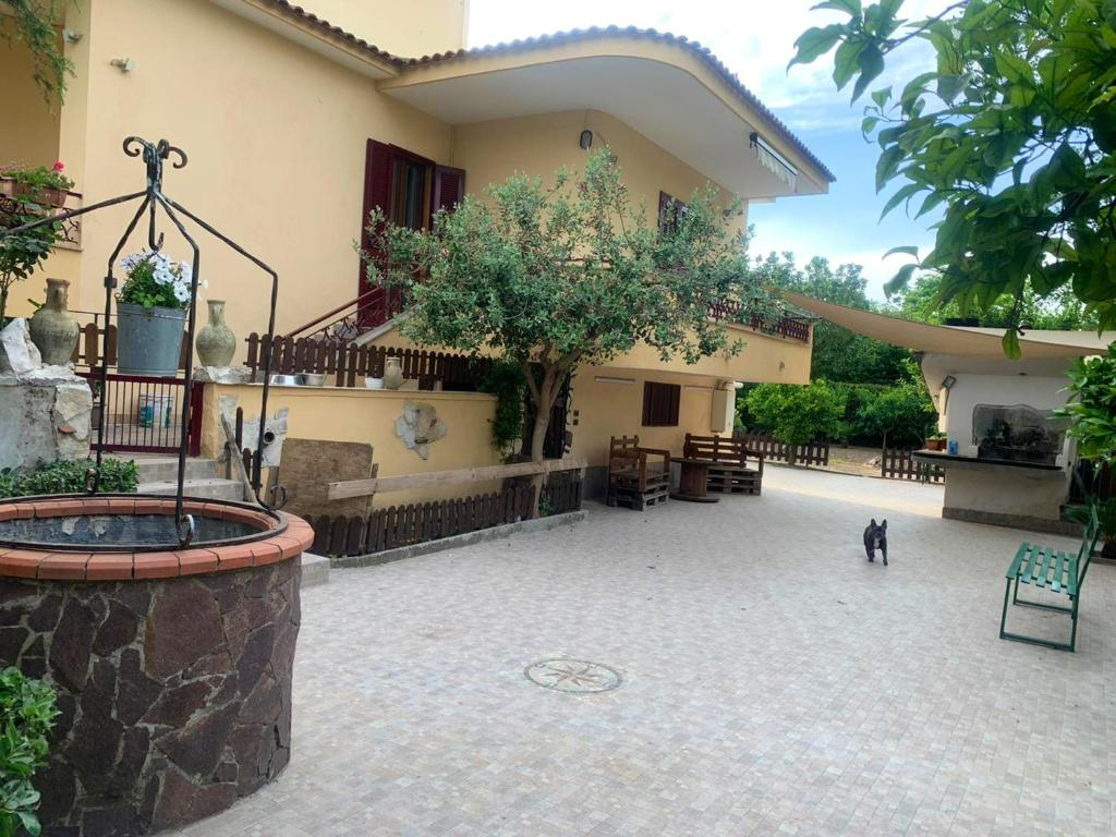 Apartment with 2 bedrooms in Nola with wonderful mountain view enclosed garden and WiFi 17 km from the beach