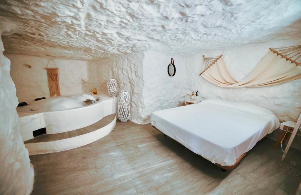Cama o camas de una habitación en Casa Rural Las Colmenas