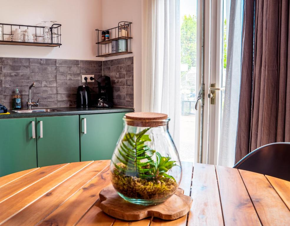 Een keuken of kitchenette bij Bed en Bike Texel