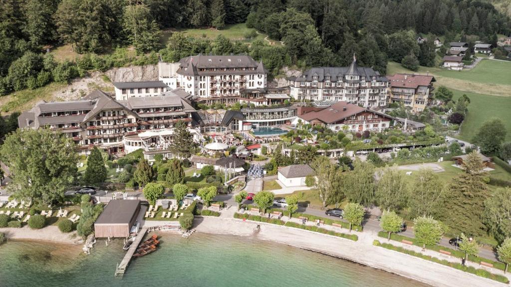 A bird's-eye view of Ebner's Waldhof am See Resort & Spa