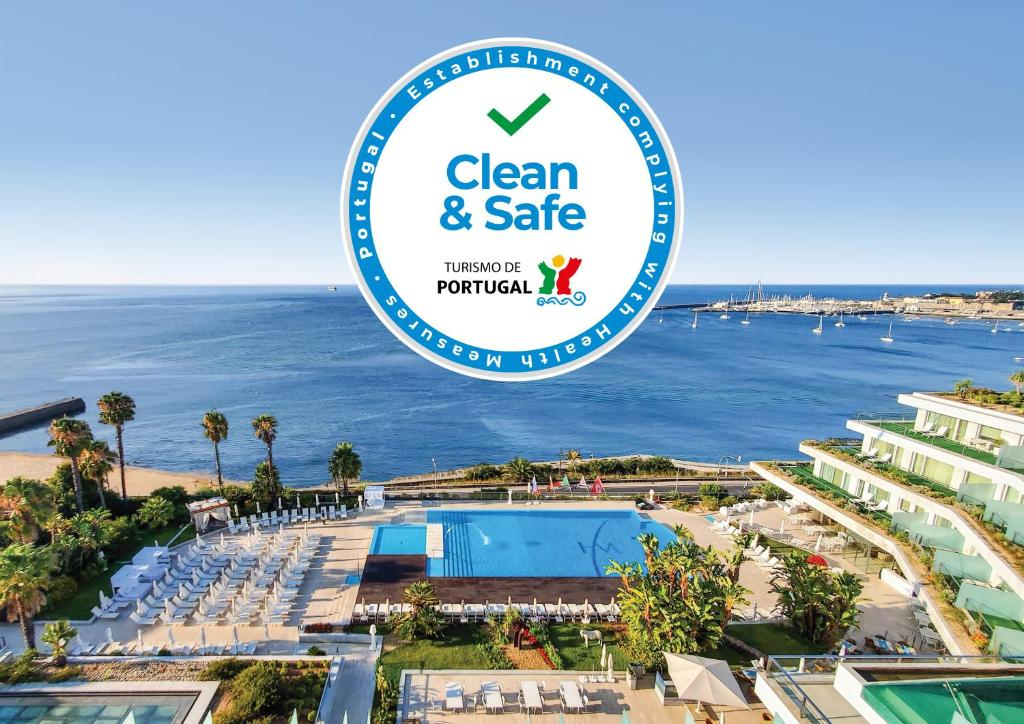 Blick auf Hotel Cascais Miragem Health & Spa aus der Vogelperspektive