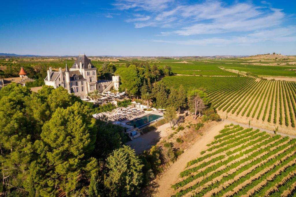 A bird's-eye view of Château Les Carrasses