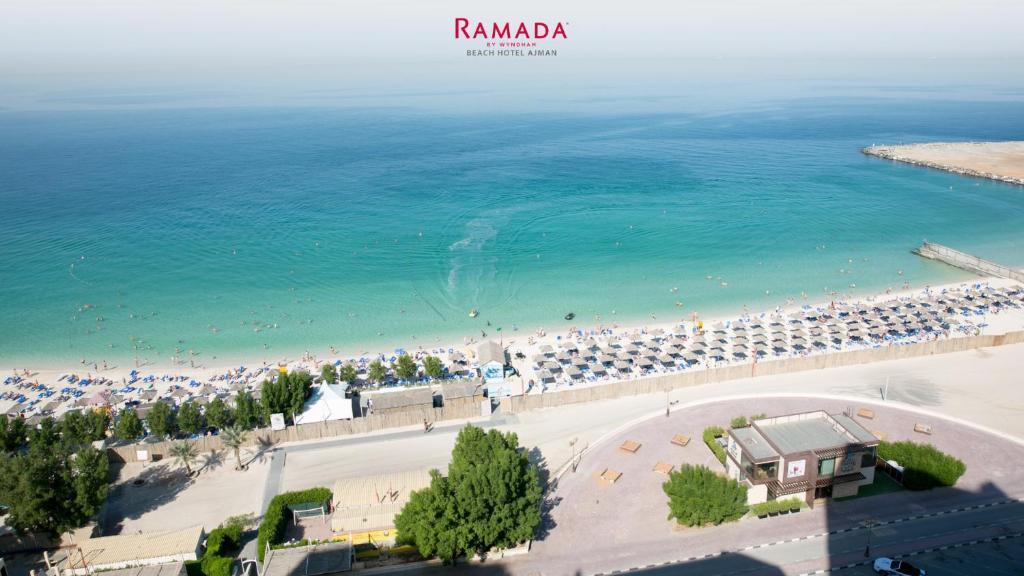 A bird's-eye view of Ramada by Wyndham Beach Hotel Ajman