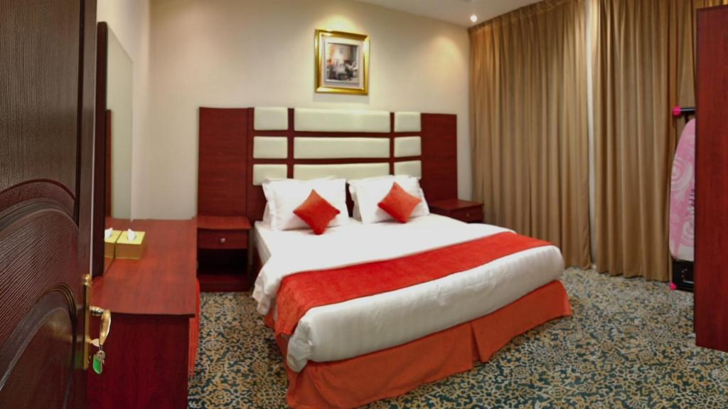 Cama ou camas em um quarto em Zahrat Al Rabea زهره الربيع