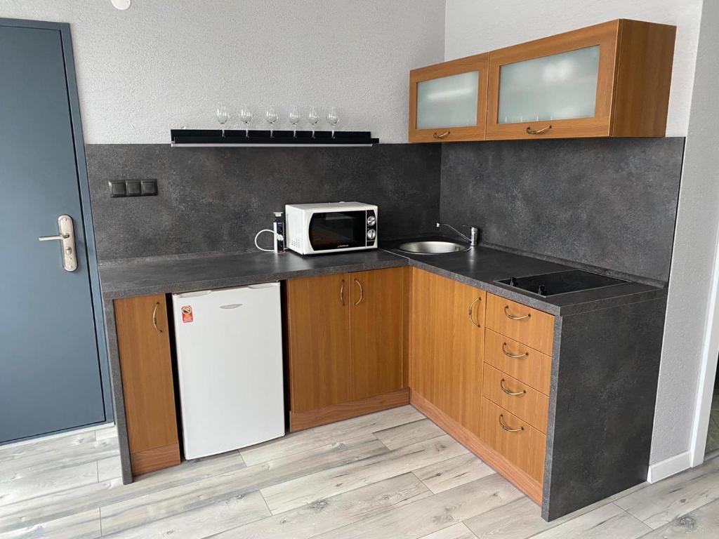 Kuchyňa alebo kuchynka v ubytovaní Apartments RENESANCE