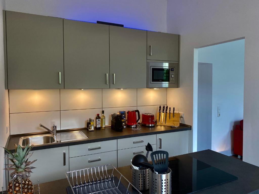 A kitchen or kitchenette at Chez Coco Apartment 2 Aachen