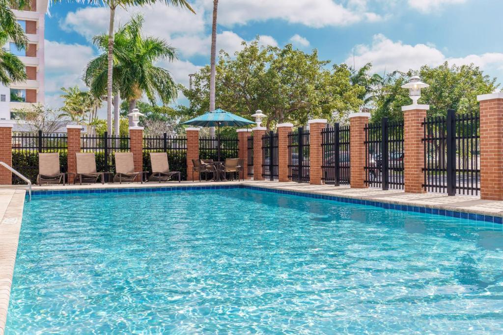 The swimming pool at or near Hyatt Place Fort Lauderdale Airport/Cruise Port