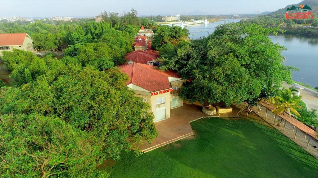 A bird's-eye view of Ras Resorts, Silvassa - Riverfront Resort