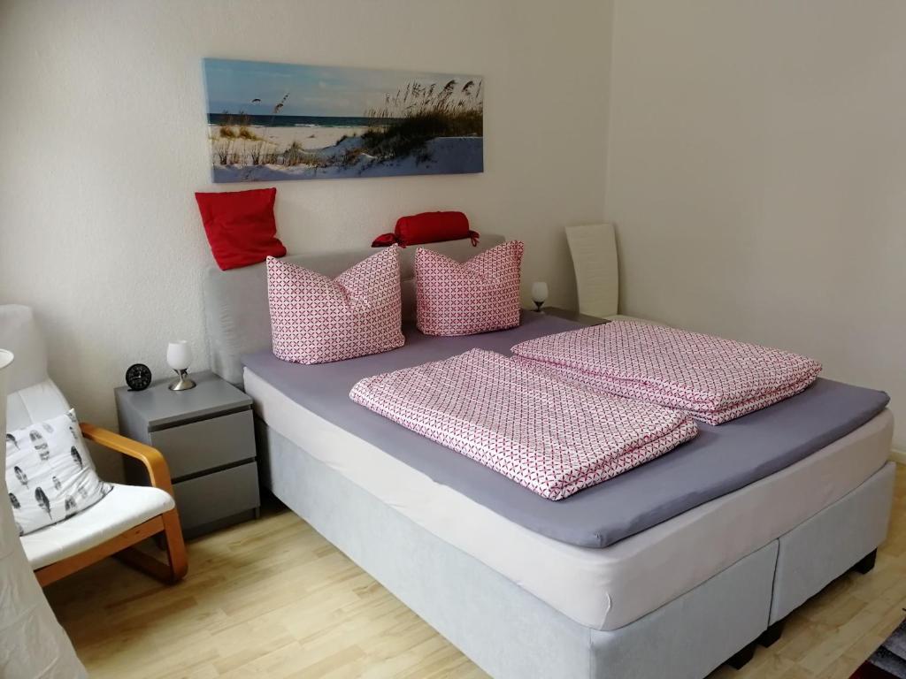 Ein Bett oder Betten in einem Zimmer der Unterkunft Pension am Aubach Schwerin