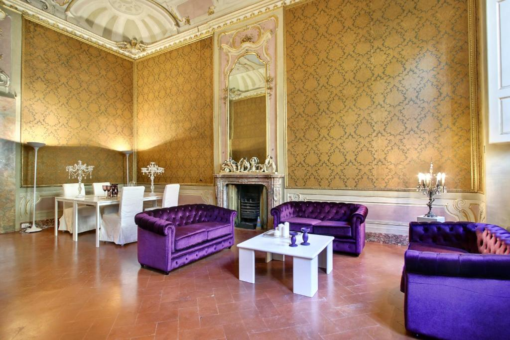 Area soggiorno di Palazzo Tolomei - Residenza D'Epoca