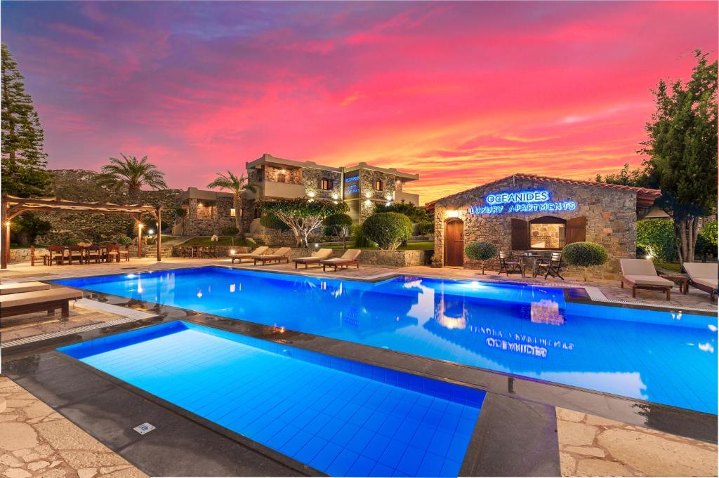 The swimming pool at or close to Oceanides Luxury Apartments
