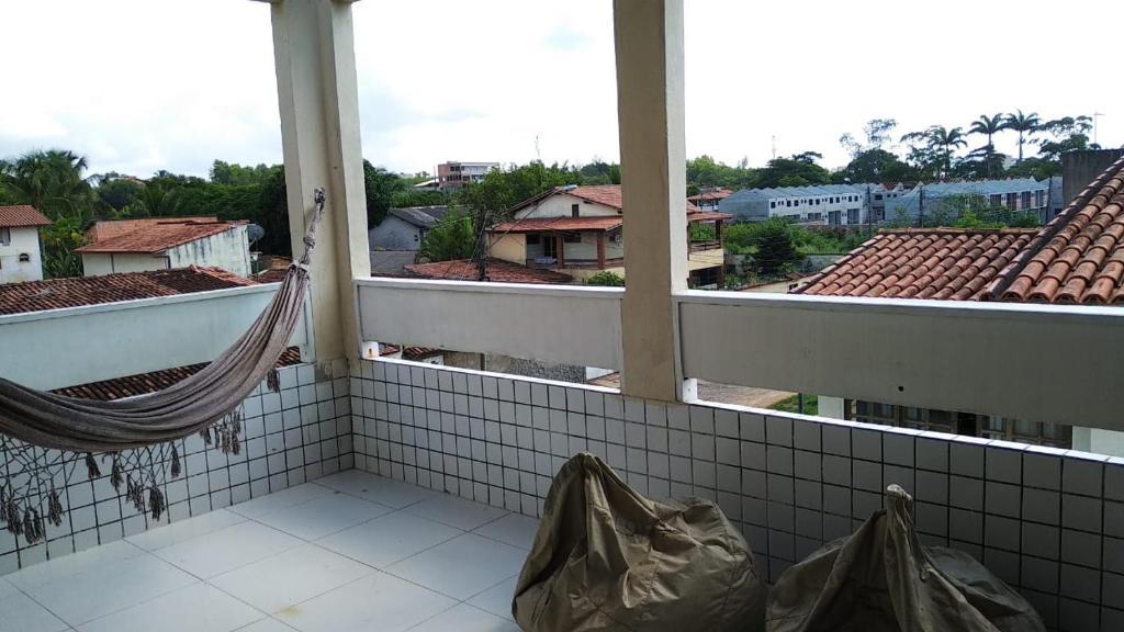 A balcony or terrace at Apartamento Jacaraípe