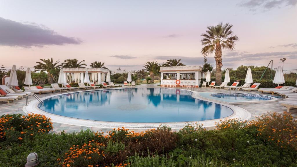 The swimming pool at or near Porto Naxos