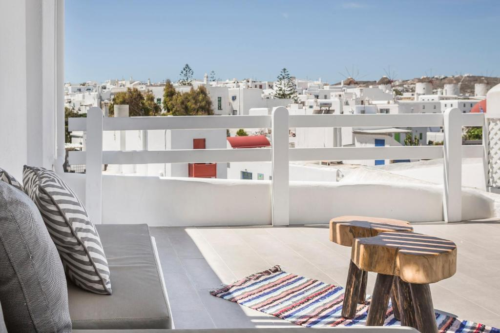 A balcony or terrace at Kostantis Town Suites