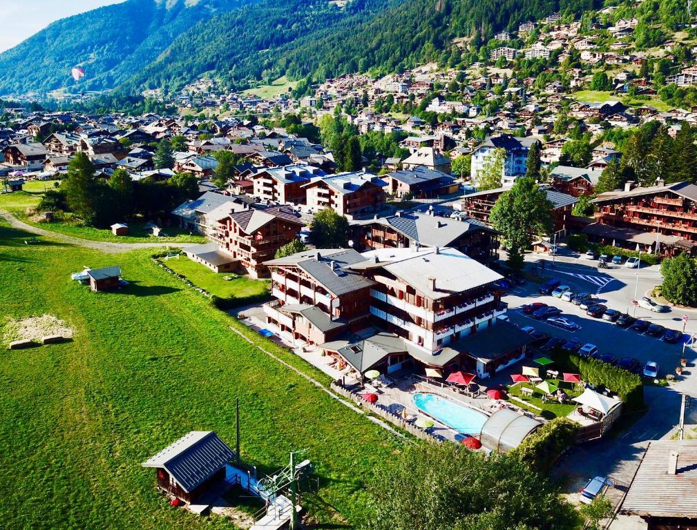 Letecký snímek ubytování La Clef des Champs