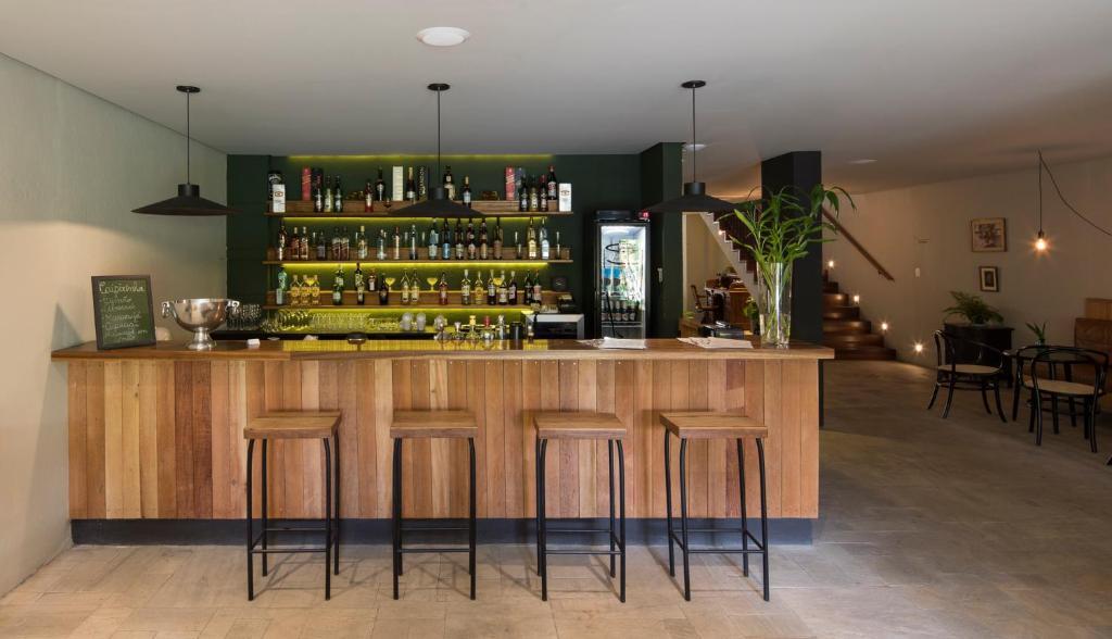 The lounge or bar area at Hotel Villa Amazônia