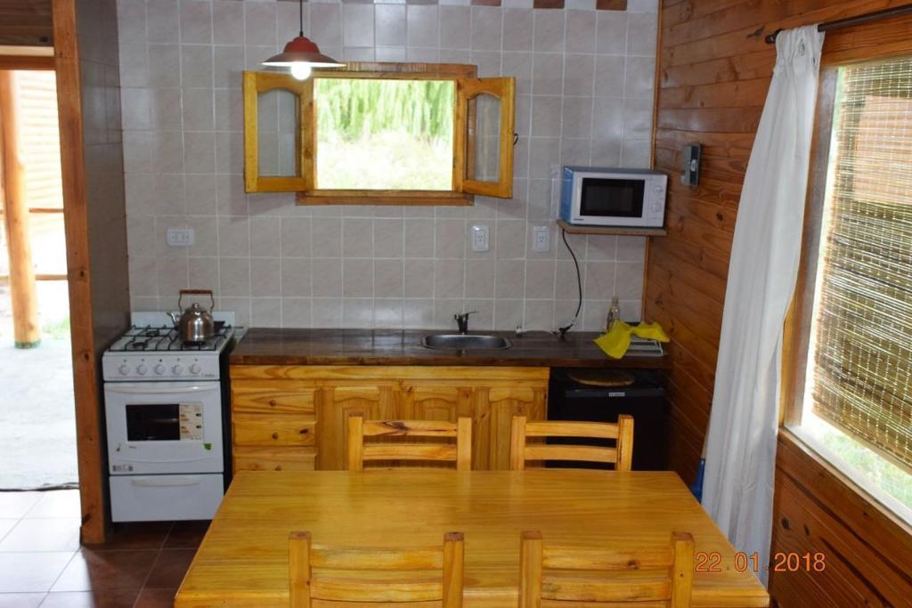 Una cocina o kitchenette en Terrazas de Uspallata