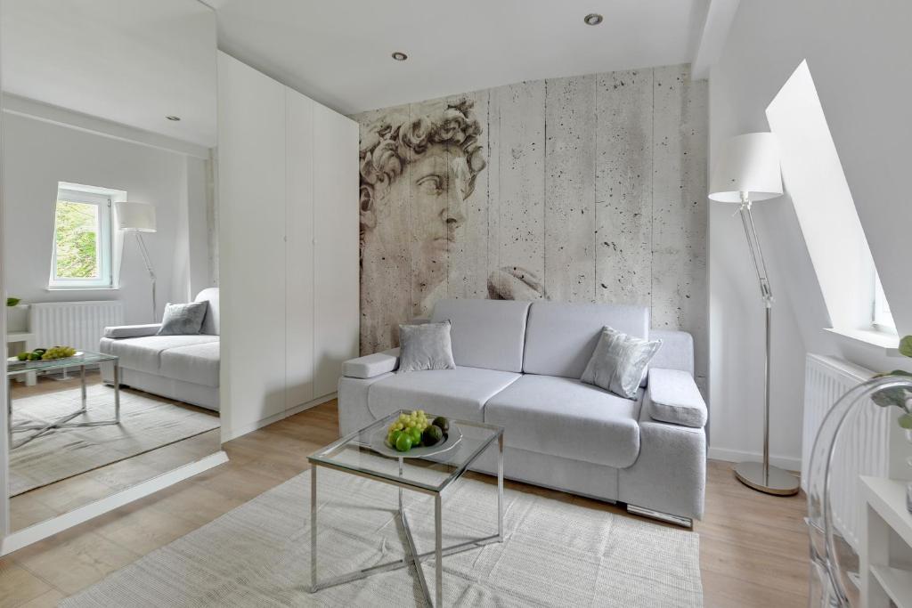 A seating area at Victus Apartamenty, Apartamenty Panamera