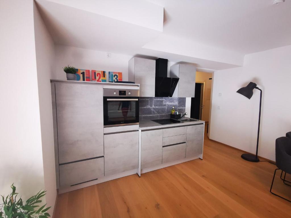Küche/Küchenzeile in der Unterkunft Spa Residenz Neusiedl