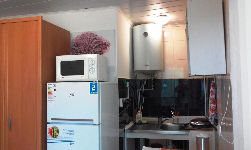 Кухня или мини-кухня в Дом на пляже