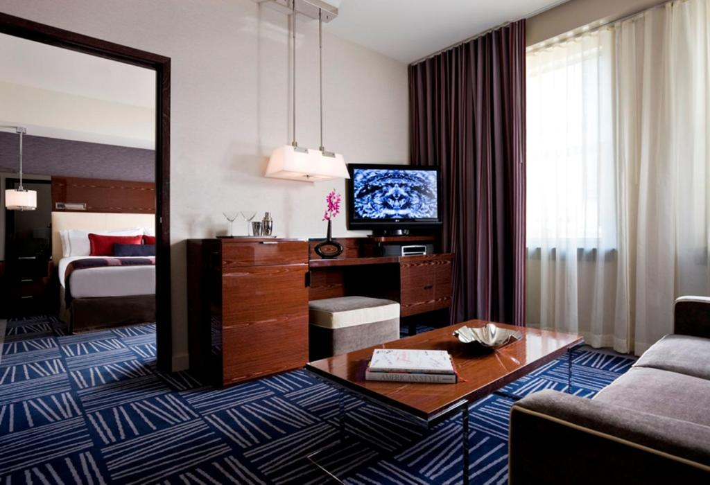 A television and/or entertainment center at The Joule