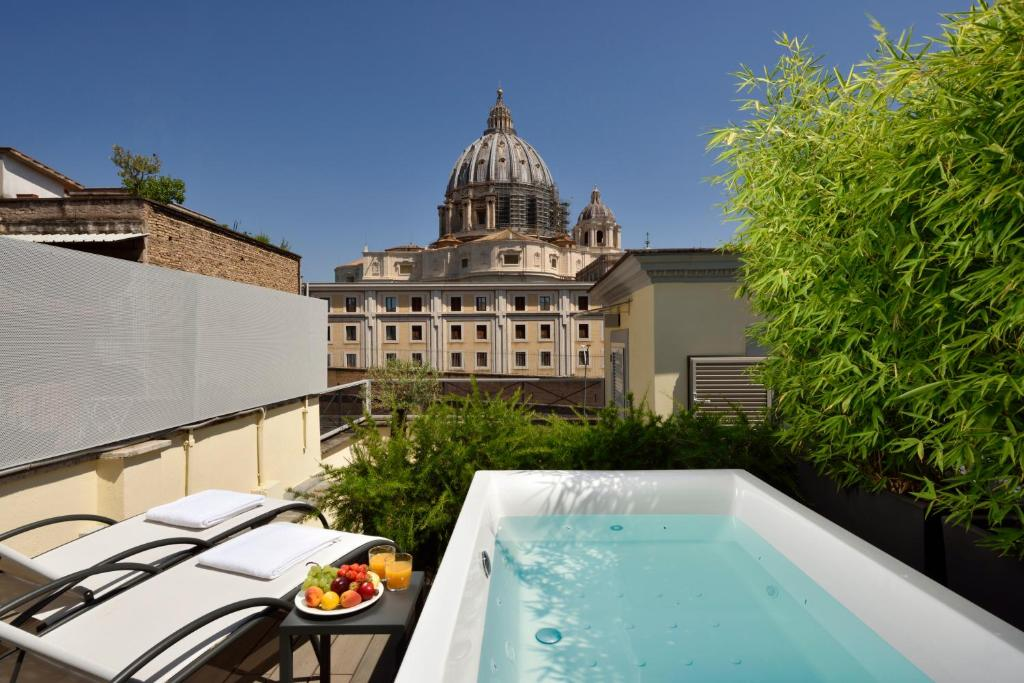 A view of the Vatican from the Elle Boutique Hotel.