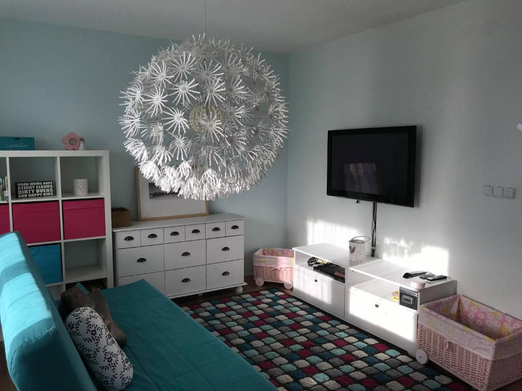 TV a/nebo společenská místnost v ubytování Apartmán Provence