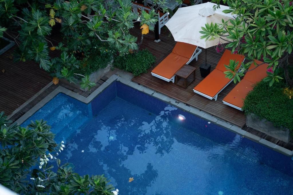 Vista de la piscina de Amber Angkor Villa Hotel & Spa o alrededores