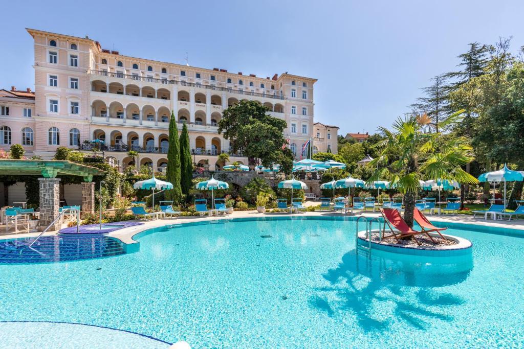 The swimming pool at or near Hotel Kvarner Palace