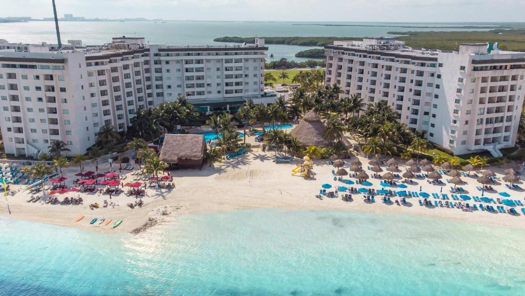 A bird's-eye view of Hotel Casa Maya