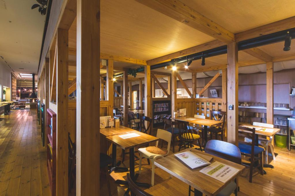 A restaurant or other place to eat at Ofuro Cafe Utatane