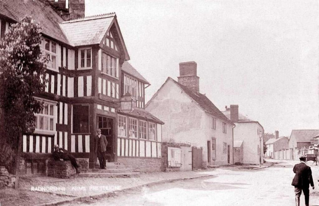 The Radnorshire Arms Hotel during the winter