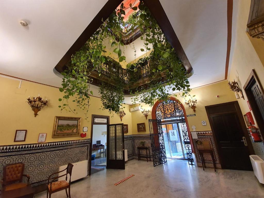 The lobby or reception area at Casona de San Andrés