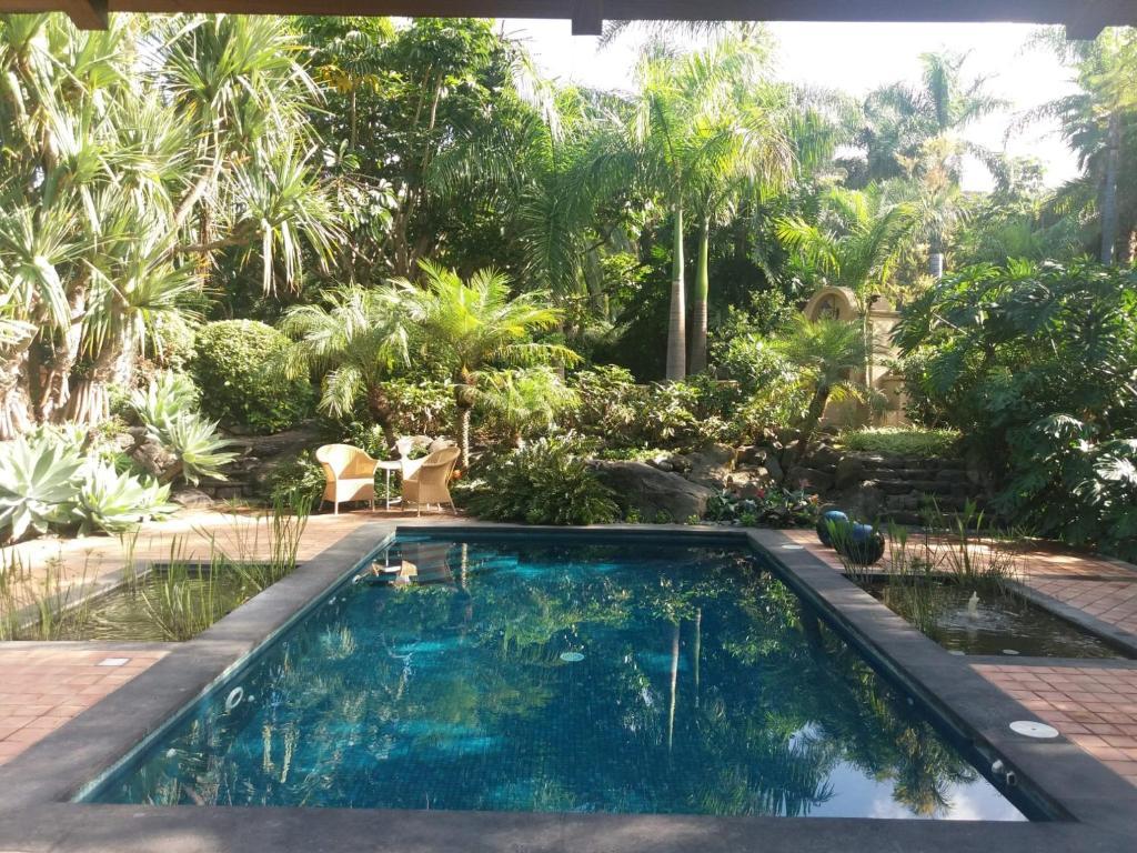 The swimming pool at or near El Jardin de la Palapa