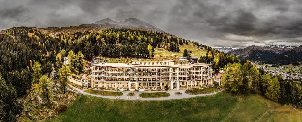 A bird's-eye view of Schatzalp Hotel