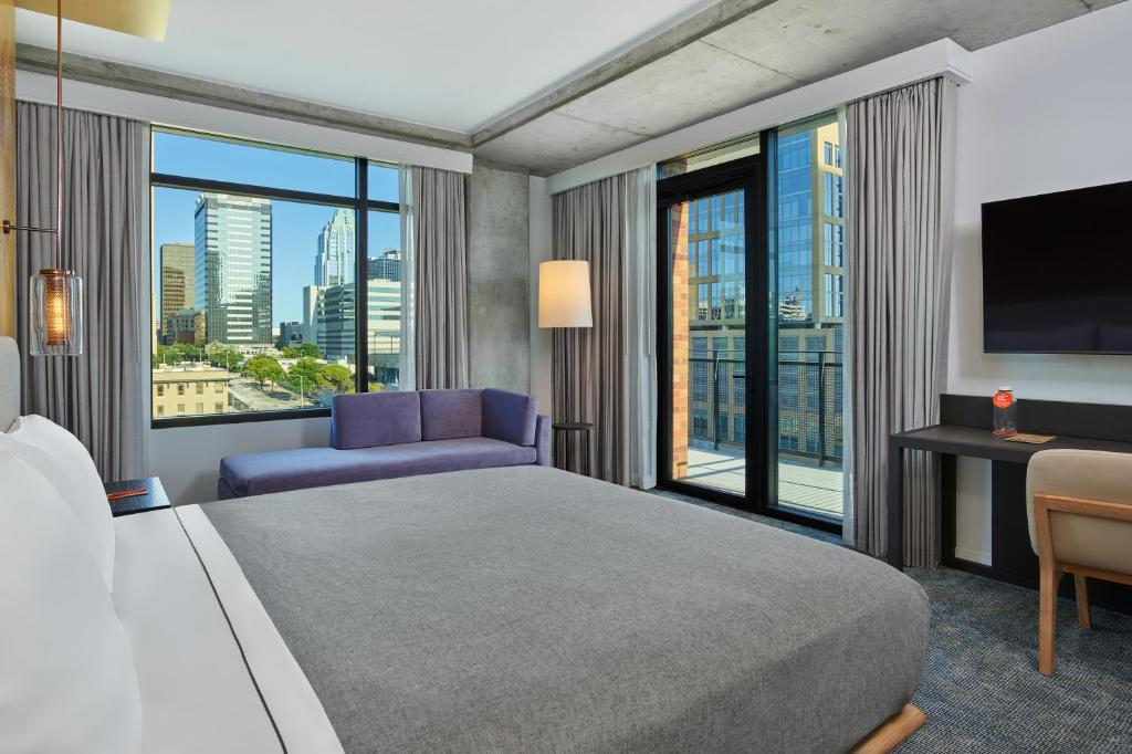 A room at the Canopy by Hilton Austin Downtown.